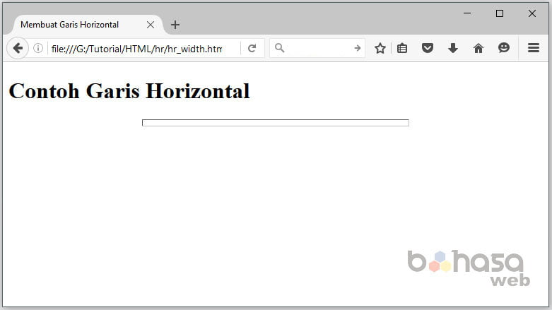 Membuat Garis Horizontal di HTML