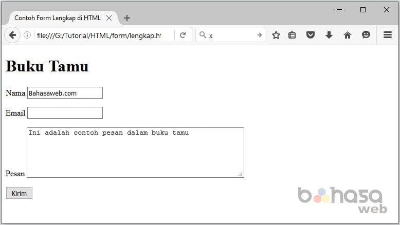 Cara Membuat Form di HTML