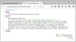 Menambahkan komentar di html