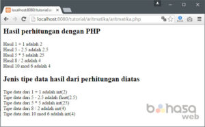 operator aritmatika php