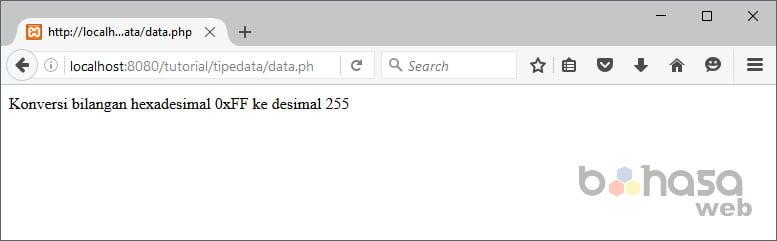 tipe data dalam php
