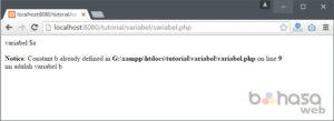 penulisan variabel dalam php