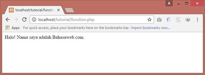 function pada php
