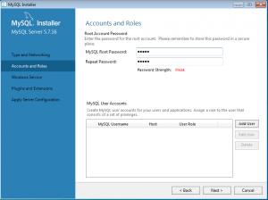 Install database MySQL