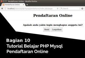 menghapus data anggota pendaftaran online