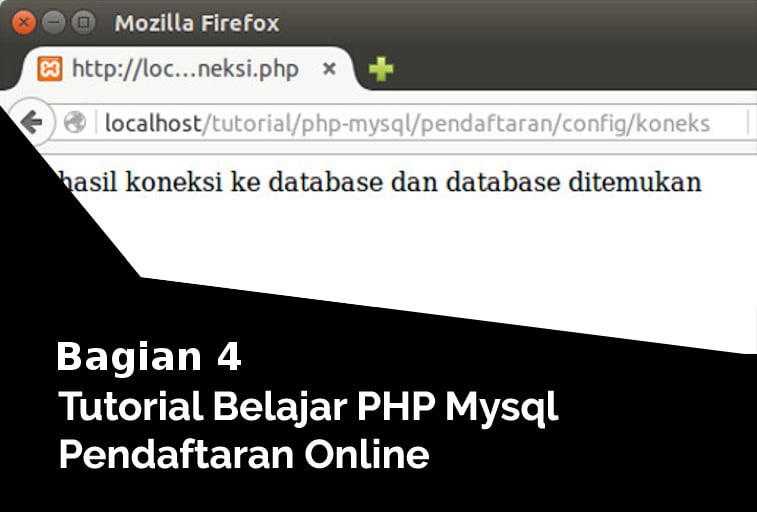 koneksi php ke database pendaftaran online