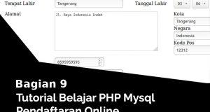 Update Data Anggota Pendaftaran Online Dengan PHP dan MySQL