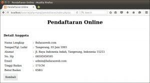 menampilkan detail anggota pendaftaran online