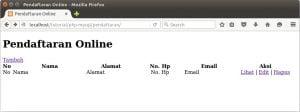 membuat halaman index pendaftaran online