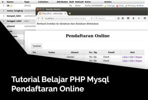 belajar php mysql pendaftaran online