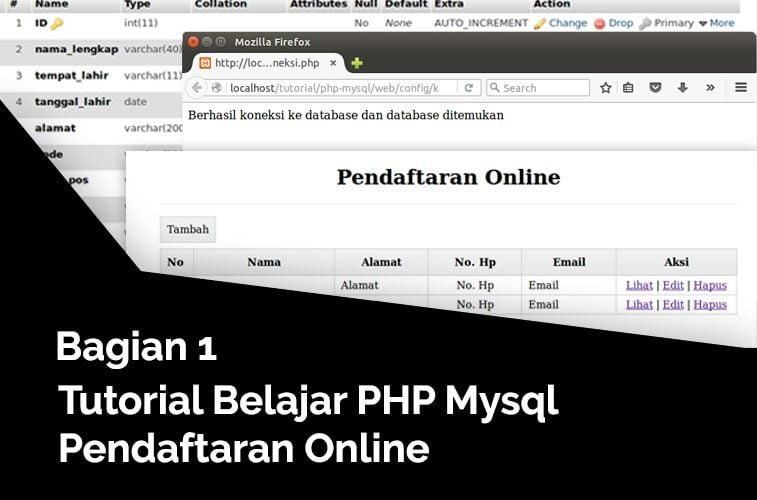 pengenalan tutorial php mysql