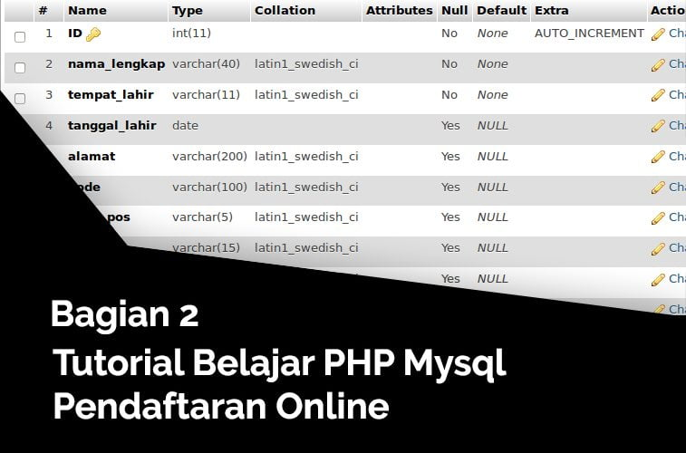 pembuatan database pendaftaran online