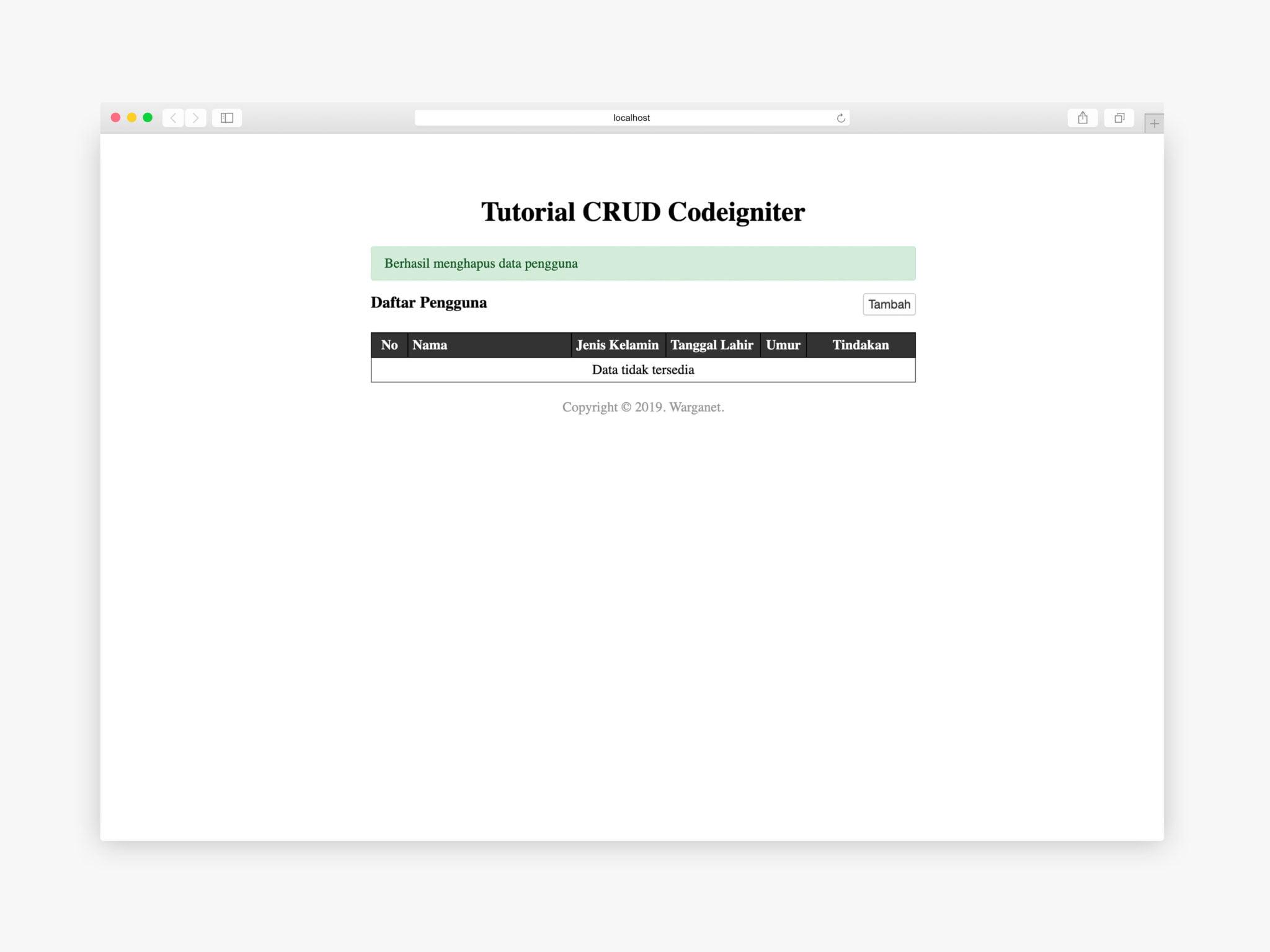 fungsi hapus pengguna codeigniter