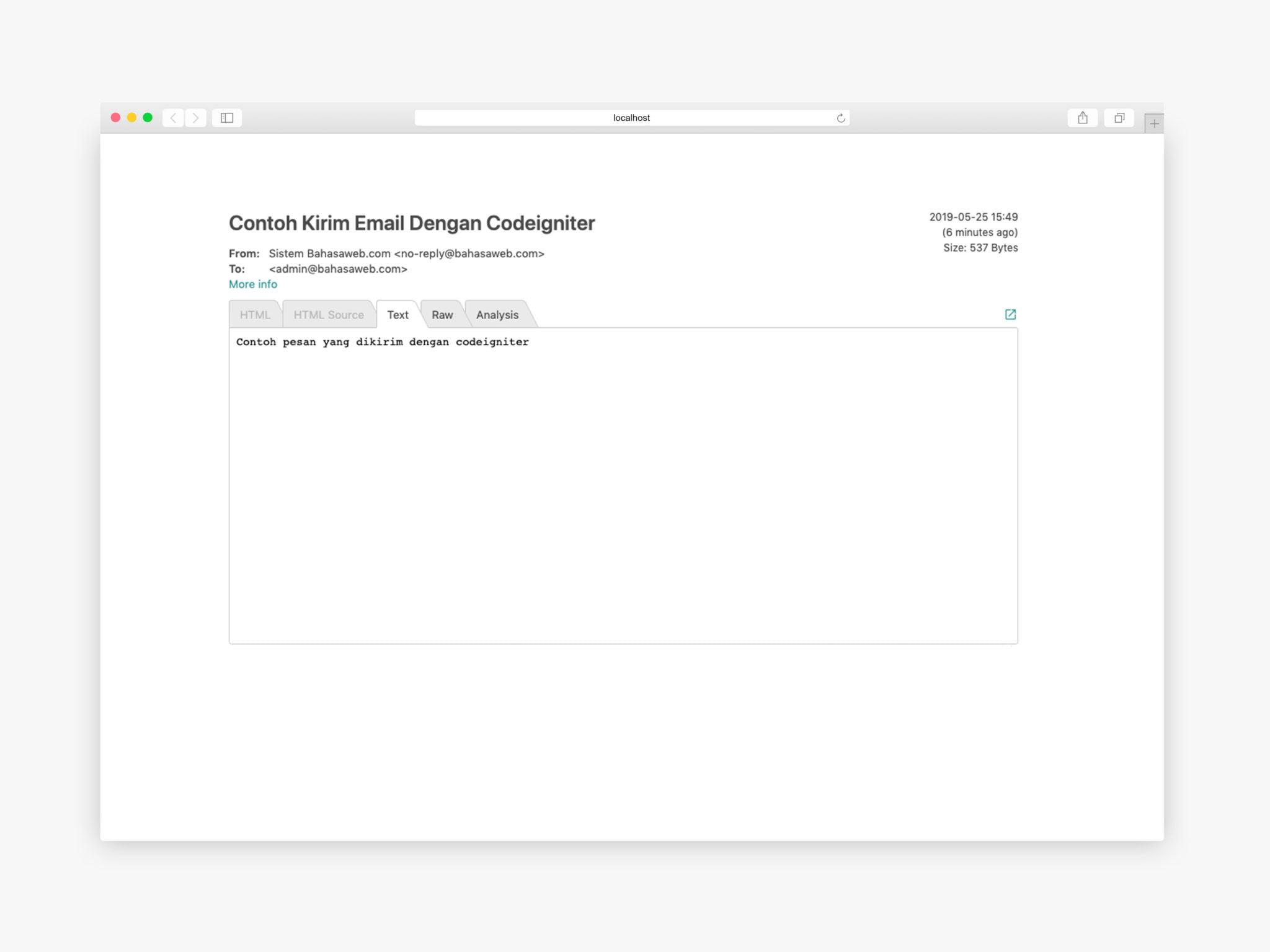 kirim email dengan codeigniter