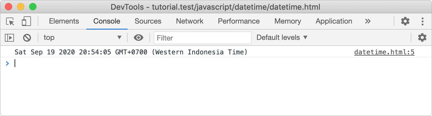 Tanggal dan waktu pada javascript
