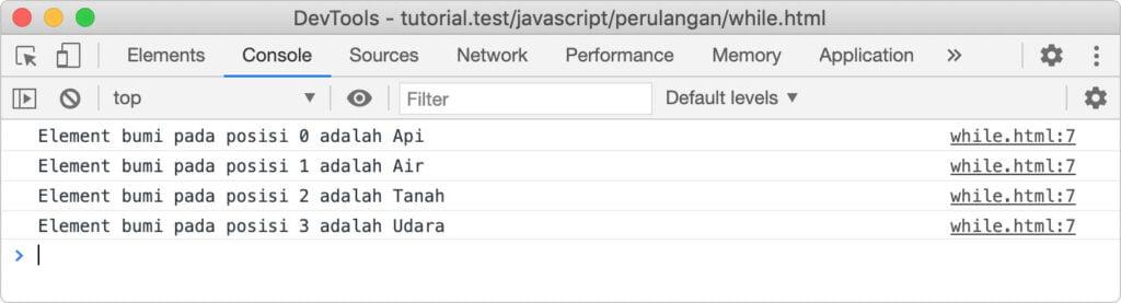 perulangan pada javascript foreach