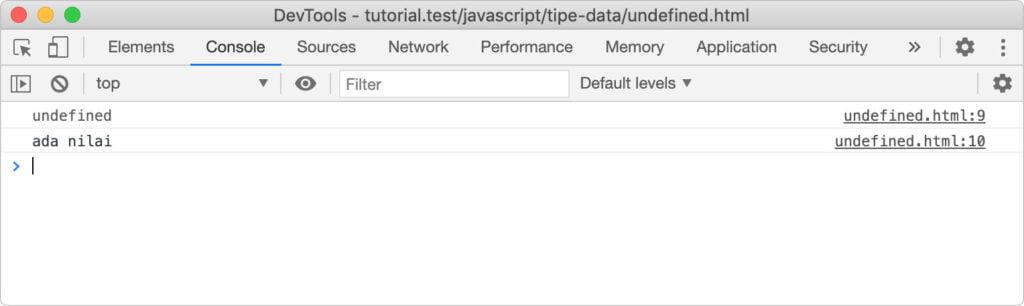 jenis tipe data di javascript