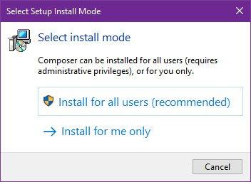 step 1 cara install composer