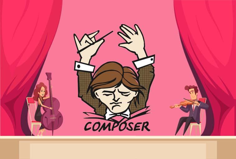 cara install composer