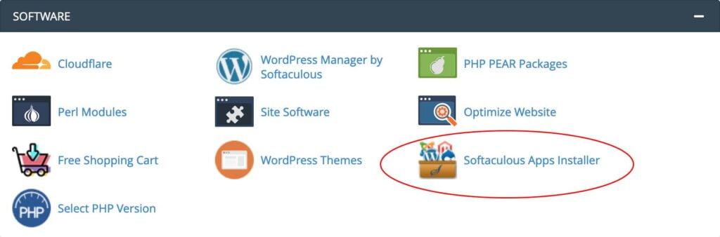 cpanel softaculous - cara membuat website sendiri