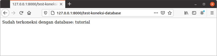 cara membuat database mysql di laravel