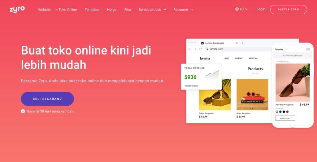 Zyro Buat Website Toko Online