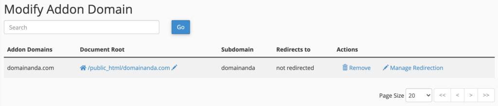 daftar addon domains